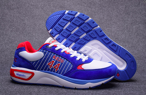 Chicago Cubs Shoes - Men's #44 Anthony Rizzo Blue