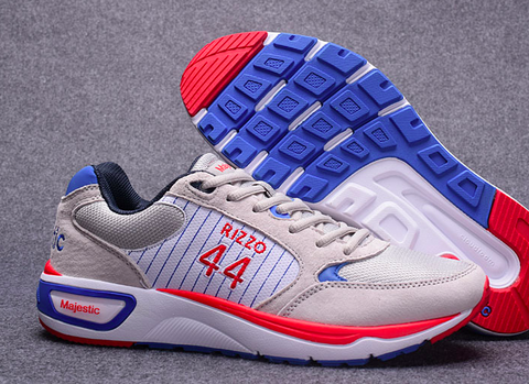 Chicago Cubs Shoes - Men's #44 Anthony Rizzo Grey