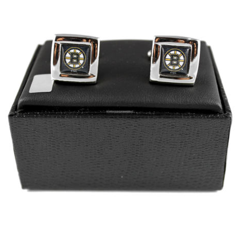 Boston Bruins Cuff Links - Wedding grooms gift set -Square