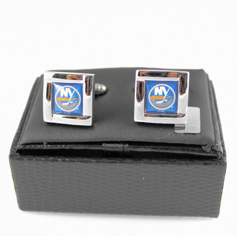 New York Islanders Cuff Links - Wedding grooms gift set -Square