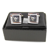 Pittsburgh Penguins Cuff Links - Wedding grooms gift set -Square