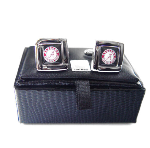 Alabama Crimson Tide Cuff Links - Wedding grooms gift set -Square