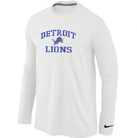 Detroit Lions Shirt - Long Sleeve - Team White