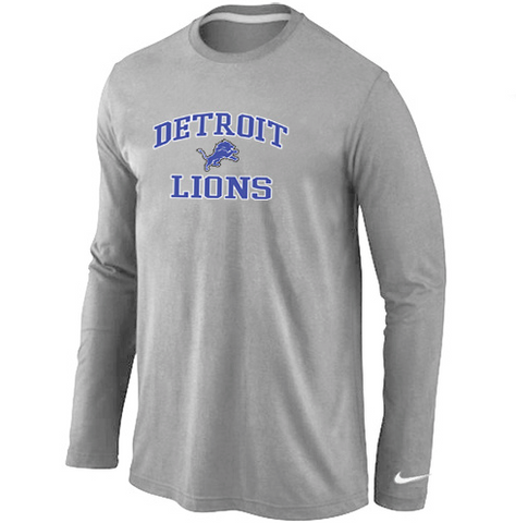 Detroit Lions Shirt - Long Sleeve - Team Grey