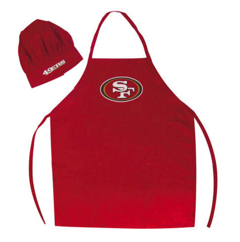 San Francisco 49ers Apron and Chef Hat for Barbecuing
