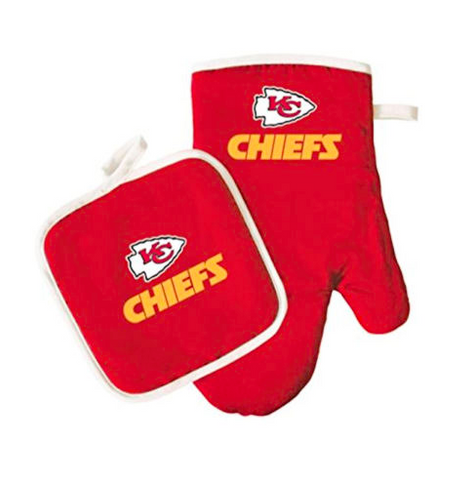 Kansas City Chiefs Oven Mitt & Pot Holder Barbecue Set