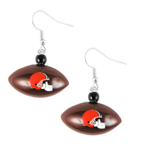 Cleveland Browns Earrings - Mini Football