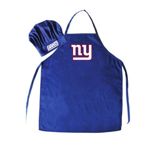 New York Giants Apron and Chef Hat for Barbecuing