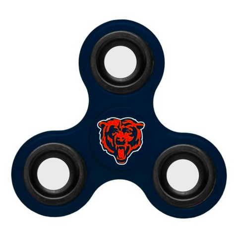 Chicago Bears Hand Spinner - 3 Way Diztracto Fidget Hand Spinner