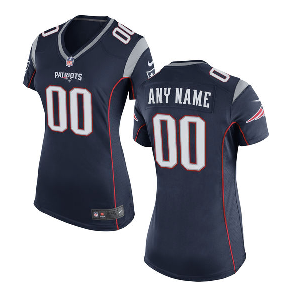 2986ed411 New England Patriots Jersey - Women s Navy Custom Game Jersey ...