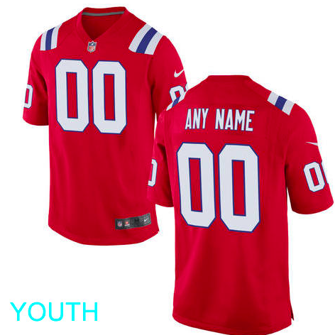 56b94fac5 New England Patriots Jersey - Youth Red Custom Game Jersey ...