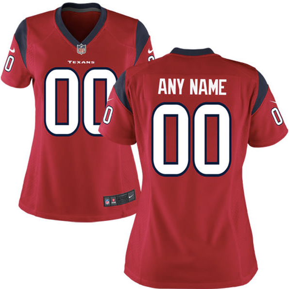 reputable site 1df03 144fe Houston Texans Jersey - Women's Red Custom Game Jersey