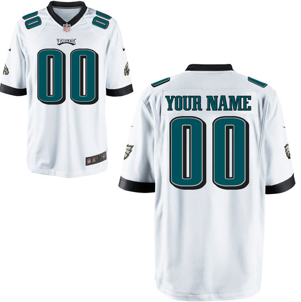 44303249d2c ... best philadelphia eagles jersey mens white custom game jersey e0437  9b104
