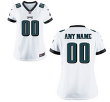 Philadelphia Eagles Jersey - Women's White Custom Game Jersey
