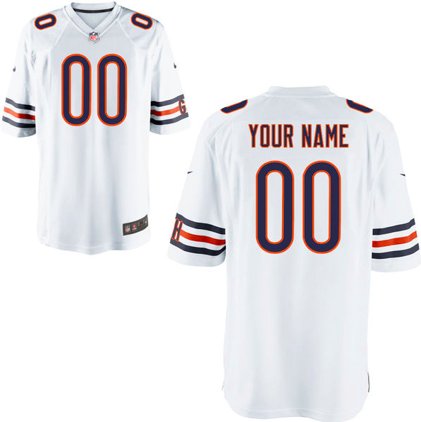 best service 87398 1d161 Chicago Bears Jersey - Men's White Custom Game Jersey