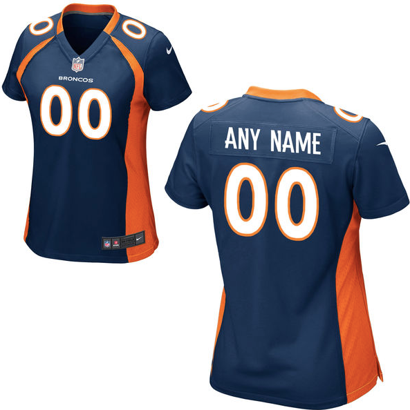 huge selection of b5426 c6226 Denver Broncos Jersey - Women's Blue Custom Game Jersey