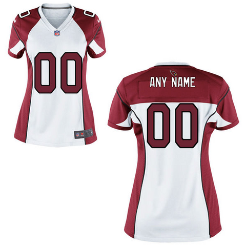 Arizona Cardinals Jersey - Women's White Custom Game Jersey