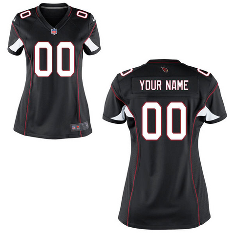 Arizona Cardinals Jersey - Women's Black Custom Game Jersey