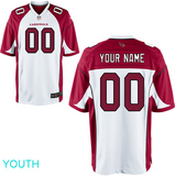 Arizona Cardinals Jersey - Youth White Custom Game Jersey