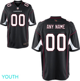 Arizona Cardinals Jersey - Youth Black Custom Game Jersey