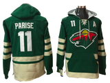 Minnesota Wild Lacer - Green Pullover Hockey Hoodie - Several Players