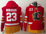 Calgary Flames Lacer - #23 Sean Monahan Red