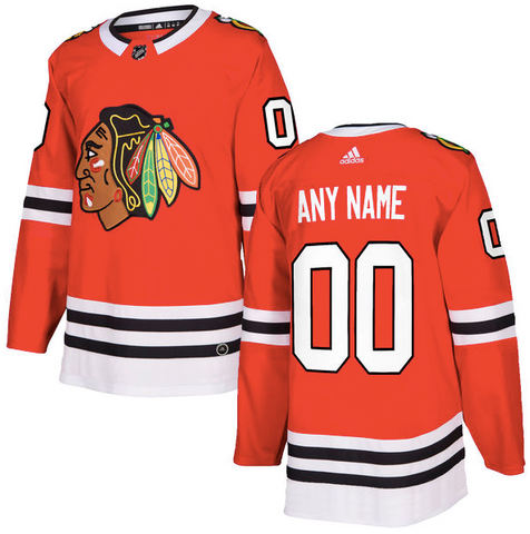 Chicago Blackhawks Jersey - Custom Name and Number - Red