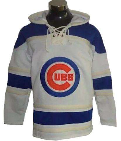 Chicago Cubs Lacer -  Blank White and Blue Pullover
