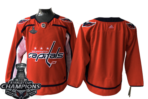 Washington Capitals Jersey - Blank Red w/ Stanley Cup Champions Patch