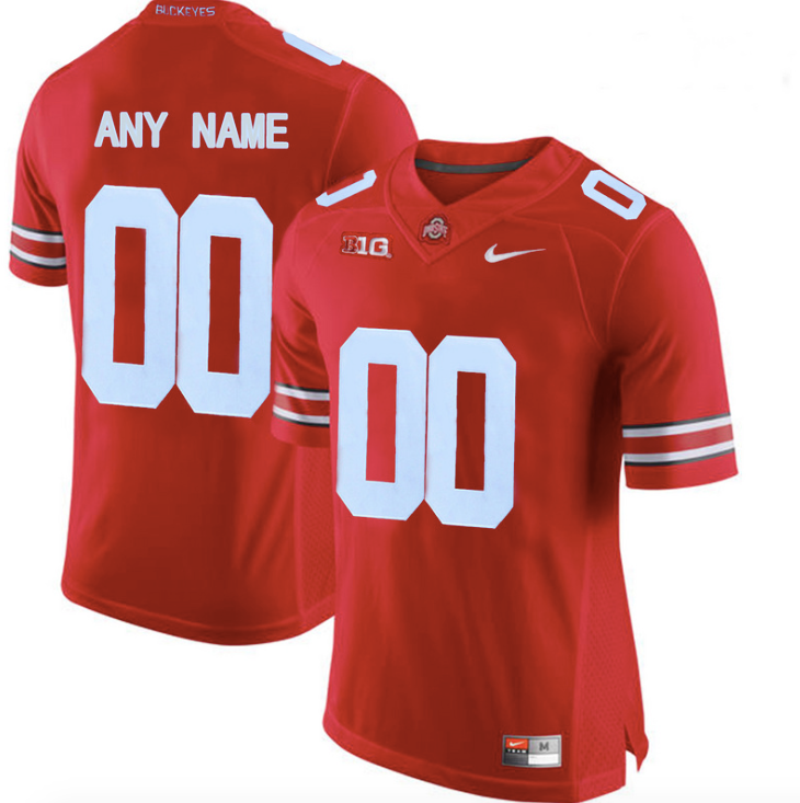 quality design e6183 b9c6e Ohio State Buckeyes Jersey - Custom Scarlet Jersey - Any Name and Number