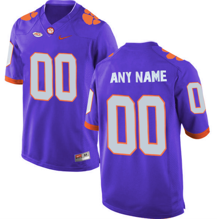 Clemson Tigers Jersey - Custom Purple Jersey - Any Name and Number