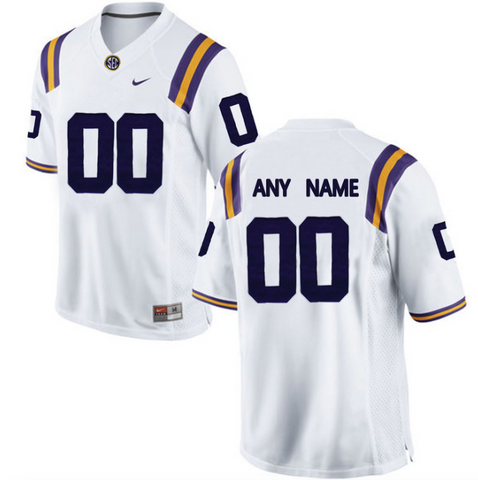 1a39c271d LSU Tigers Jersey - Custom White Jersey - Any Name and Number