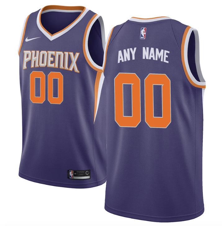 new product d279a fbfe3 Phoenix Suns Jersey - Custom Name and Number - Purple