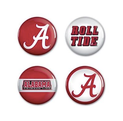 Alabama Crimson Tide Buttons - 4 pack button pins