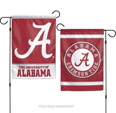 "Alabama Crimson Tide Flag - Indoor/Outdoor 12""x18"" Garden Flag"