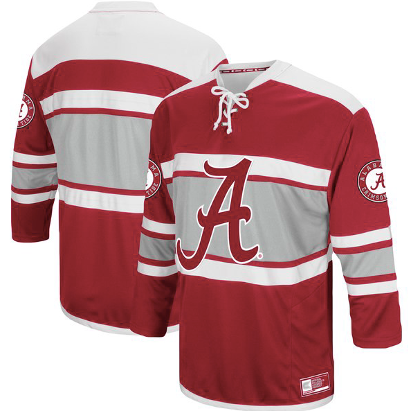 a0fc615512a Alabama Crimson Tide Jersey - Hockey Style Custom Jersey - Any Name and  Number