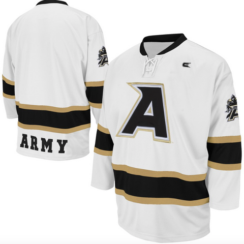 Army Black Knights Jersey - Custom White Hockey Jersey - Any Name and Number
