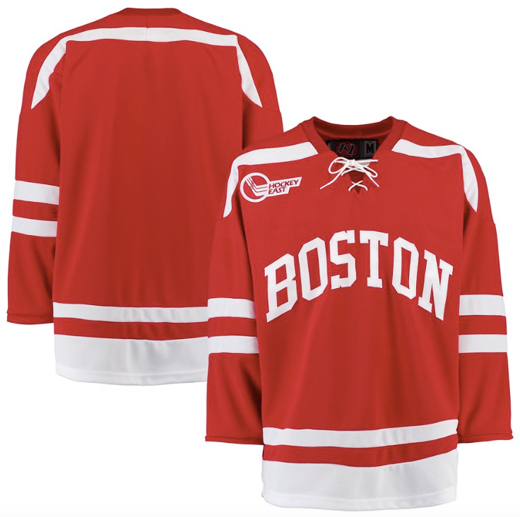 official photos a723f b1e11 Boston University Jersey - Custom Red K1 Hockey Jersey - Any Name and Number