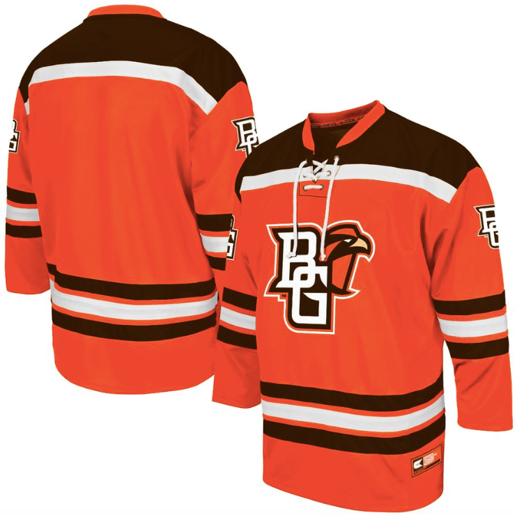 watch aec3d 14ac4 Bowling Green State University Jersey - Custom Hockey Jersey - Any Name and  Number