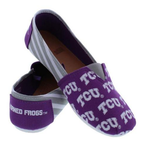 TCU Horned Frogs Ladies Logo Stripe Slip Ons