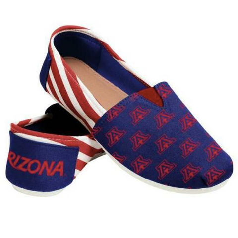 Arizona Wildcats Ladies Logo Stripe Slip Ons