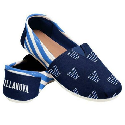 Villanova Wildcats Ladies Logo Stripe Slip Ons