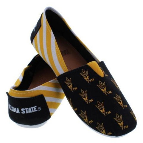 Arizona State Sun Devils Slippers - Ladies Logo Stripe Slip Ons