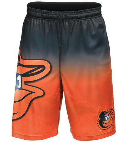 Baltimore Orioles Shorts - Gradient Big Logo Training Shorts