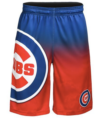 Chicago Cubs Shorts - Gradient Big Logo Training Shorts