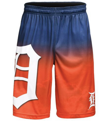 Detroit Tigers Shorts - Gradient Big Logo Training Shorts