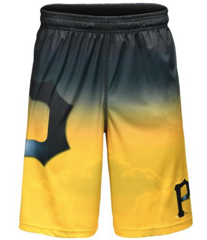 Pittsburgh Pirates Shorts - Gradient Big Logo Training Shorts