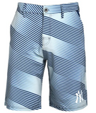 New York Yankees Shorts - Mens Diagonal Stripe Walking Shorts