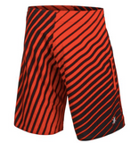 Detroit Red Wings Shorts - Mens Logo Poly Stripe Board Shorts