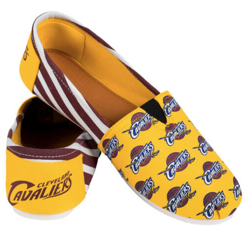 Cleveland Cavaliers Shoes - Womens THEMATIC Canvas Shoes